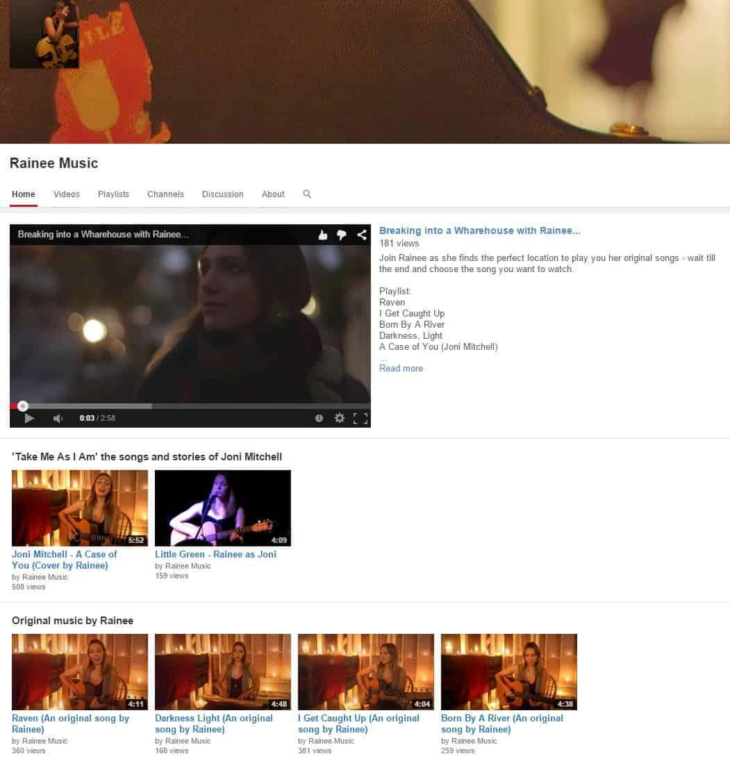 RaineeMusic YouTube